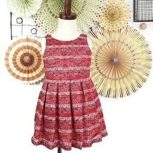 OSHKOSH Pleated Sparkly Red Pink Dress Size 3T